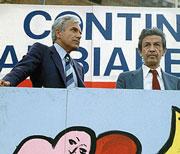 1981 Il giornalista e politico Magri insieme a Enrico Berlinguer, allora segretario del Partito comunista italiano (Contrasto/A3)