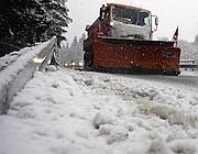 Neve a Bolzano (Tm News - Infophoto)