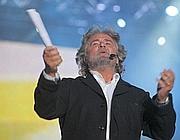 Il popolare comico genovese Beppe Grillo