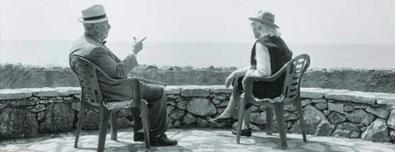 Lalla Romano e Mario Soldati (foto di Antonio Ria)