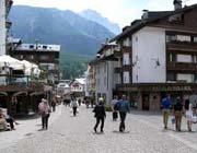 Il centro di Cortina d'Ampezzo