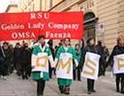 Manifestazione lavoratrici Omsa