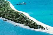 Una veduta  dell'atollo che ospita il resort