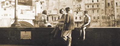 Lungarno Acciaioli agli inizi degli anni '40 (© Ludovico Pachò, Alinari)