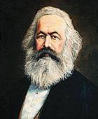 Il filosofo comunista Karl Marx (1818-1883)