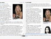 La comparazione del caso Noemi nella pagina Berlusconi su Wikipedia francese (a sinistra) e italiana