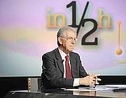 Il presidente del Consiglio, Mario Monti, nella trasmissione condotta da Lucia Annunziata su Rai3