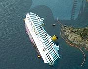 La nave Costa Concordia (Ansa)