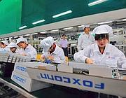La fabbrica della Foxconn in Cina (Epa)