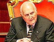 Il presidente emerito della Repubblica, Oscar Luigi Scalfaro