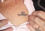 �Non rianimare�, un tatuaggio con l'ultima richiesta prima di morire