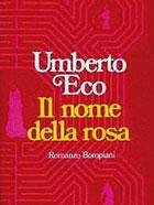 La prima edizione del «Nome della Rosa», romanzo d'esordio di Umberto Eco, uscito nel 1980. Nato ad Alessandria nel 1932, Eco è un intellettuale eclettico: semiologo, filosofo, accademico, linguista, saggista, romanziere, massmediologo e bibliofilo di fama internazionale. Fra i suoi romanzi di successo, tradotti in tutto il mondo: «Il pendolo di Foucault» (1988), «Baudolino» (2000) «La misteriosa fiamma della regina Loana» (2004) e «Il cimitero di Praga» (2010)