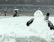 La neve al Tardini che ha causato l'annullamento di Parma- Juve (Getty Images)