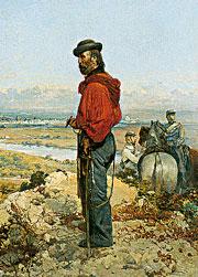 Gerolamo Induno, «Garibaldi sulle alture di Sant'Angelo» (Gallerie d'Italia - piazza Scala)