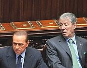 Bossi con Berlusconi (Imagoeconomica)