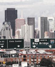 Un'immagine della downtown di San Francisco (Archivio Corsera)