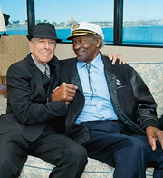 Leonard Cohen e Chuck Berry alla cerimonia del Pen New England (foto Rick Friedman / Rolling Stone)