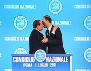 Silvio Berlusconi e Angelino Alfano (ImagoEconomica)