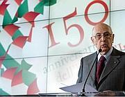 Il presidente della Repubblica Giorgio Napolitano durante le celebrazioni del 15o° dell'Unità d'Italia