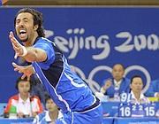 Vigor Bovolenta in azzurro festeggia dopo un match vittorioso ai Gichi di Pechino (Reuters)
