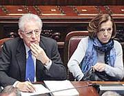 Il premier Mario Monti e il ministro del Welfare Elsa Fornero