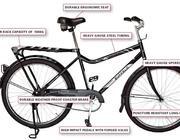 Uno dei modelli usati in Africa (World Bicycle Relief)