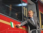 Lica di Montezemolo a presentazione di Italo (ImagoEconomica)