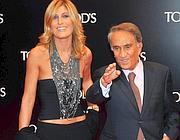 Raffaella Zardo con Emilio Fede (Fotogramma/Maule)
