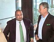 Francesco Belsito e Umberto Bossi (Imagoeconomica)