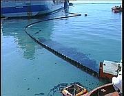 Le prime immagini della chiazza nel porto di Taranto