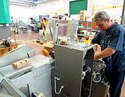 Una piccola azienda metalmeccanica di Bologna (Ansa)