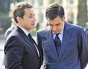 Nicolas Sarkozy e il primo ministro François Fillon (Epa)