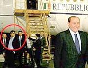 Silvio Berlusconi a Panama il 29 giugno 2010. Nel cerchio rosso Valter Lavitola (Ansa/www.presidencia.gob.pa)