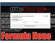 La home page del sito della Formula 1 attaccato da Anonymous
