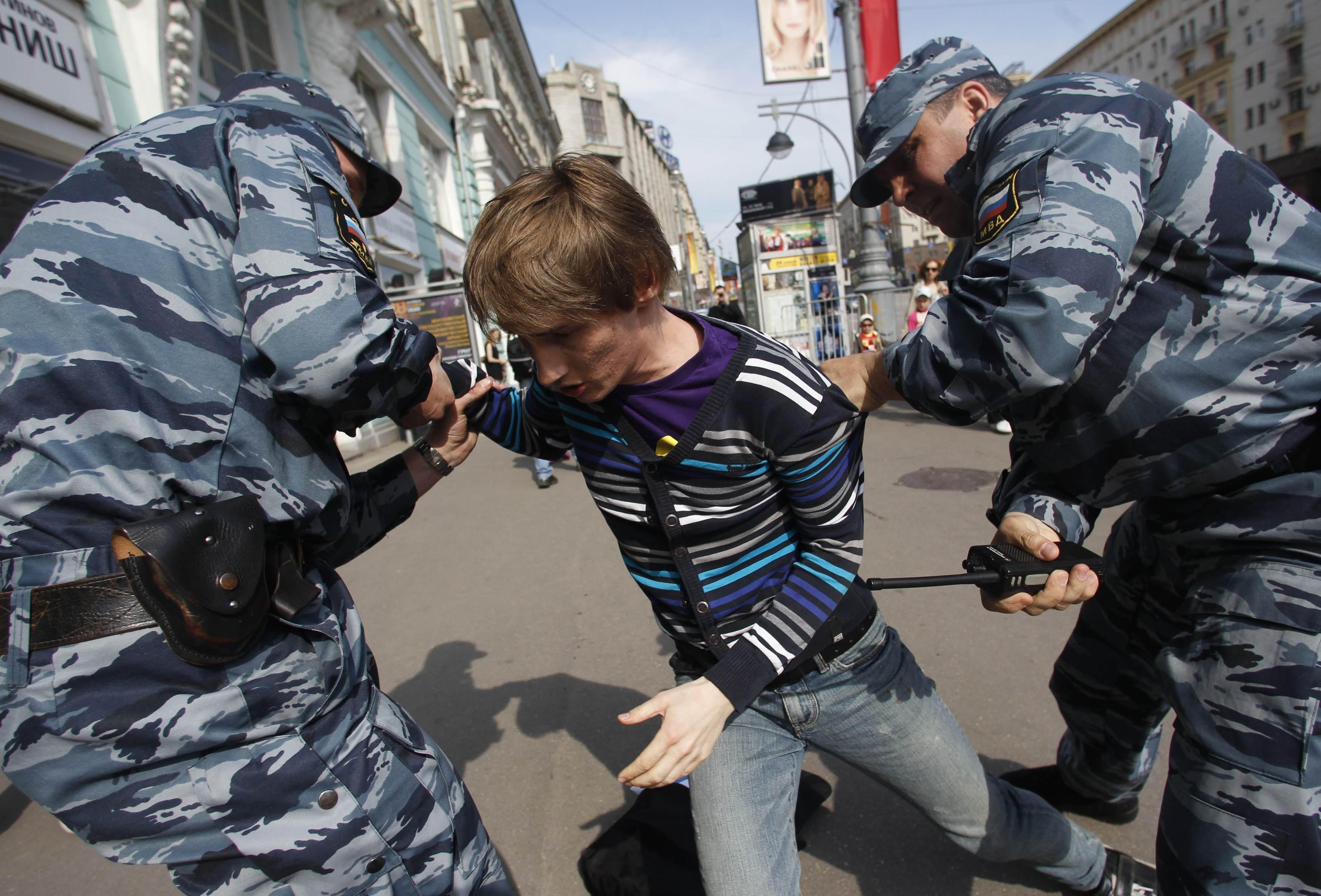 Nelle strade di Mosca (Reuters)