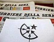 Il simbolo che compare sul volantino recapitato al Corriere della Sera