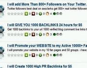 Annunci che offrono  fan e followers su Seoclercs.com