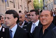 Berlusconi e Mandelli (a sinistra)