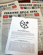 La lettera al Corriere con la rivendicazione della gambizzazione di Adinolfi (Fotogramma)