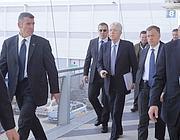 L'arrivo di Monti al Forum Pa (Eidon/Frustaci)