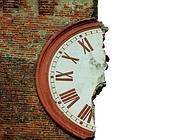 La torre dell'orologio di Finale Emilia (Ansa)