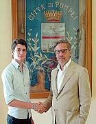 Antonio con il sindaco di Pompei