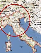 L'epicentro del Terremoro in Emilia