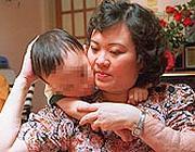 Kim con il figlio (Ap)