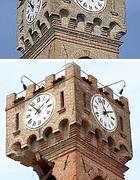La torre di Novi prima del crollo definitivo nella notte fra il 3 e il 4 maggio (Ansa/Baracchi)