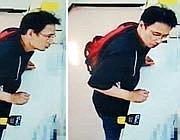 Un frame del video della banca con il sospettato (dal «Japan Times»)