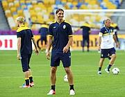 Zlatan Ibrahimovic  in allenamento(Afp/Nackstrand)