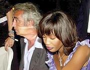 Briatore con Naomi Campbell all'inaugurazione del Billionaire
