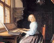 Johannes Vermeer «Donna al clavicembalo», di Gerard Dou, Dulwich Picture Gallery, Londra