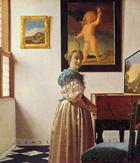 Johannes Vermeer «Donna in piedi alla spinetta», conservata alla National Gallery